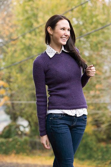 7ed1b83d9fe3d Basic V-Neck Pullover - Knitting Patterns and Crochet Patterns from  KnitPicks.com