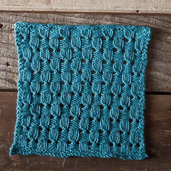 Checks And Eyelets Facecloth Knitting Patterns And Crochet