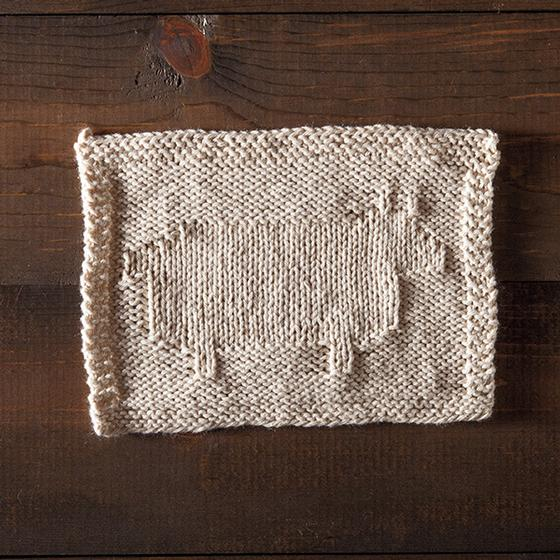 Happy Sheep Dishcloth Knitting Patterns And Crochet Patterns From