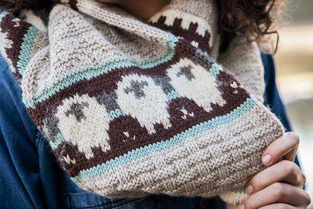 Infinite Sheep Scarf Knitting Patterns And Crochet Patterns From