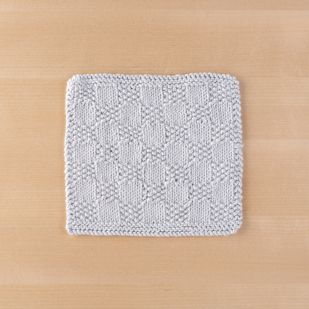 Checkerboard Dishcloth Knitting Patterns And Crochet Patterns From