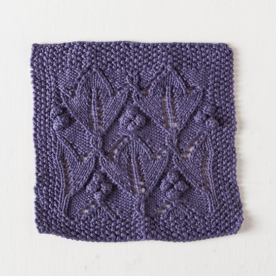 Plum Lotus Dishcloth Knitting Patterns And Crochet Patterns From