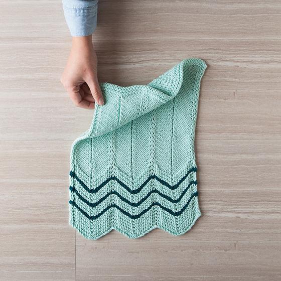 Chevron Dishtowel & Dishcloth - Knitting Patterns and Crochet ...