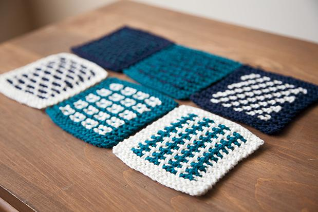 Slip Stitch Coasters Knitting Patterns And Crochet Patterns From