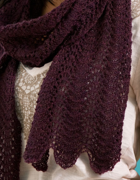 Lace 1 2 3 Throw Scarf Pattern Knitting Patterns And Crochet