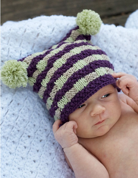 Checkered Knitting Pattern : Checkered Square Cap Pattern - Knitting Patterns and ...