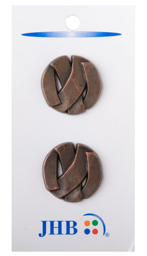 Branded Buttons - Antique Copper