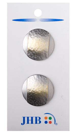 Banded Buttons - Silver/Gold