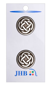 Celtic Knot Button - Silver