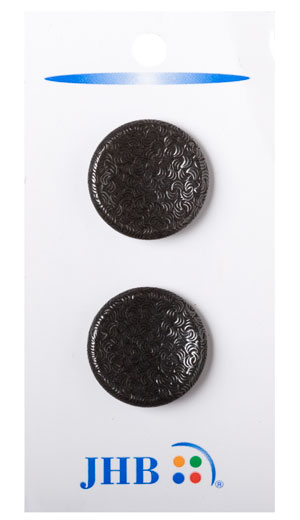 Curve Imprints Buttons - Black Metal