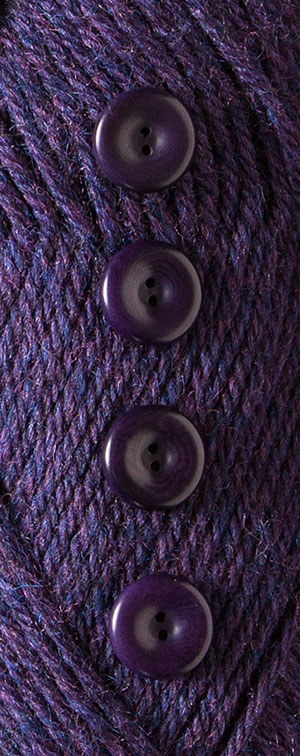 Indigo Heather Dyed to Match Buttons