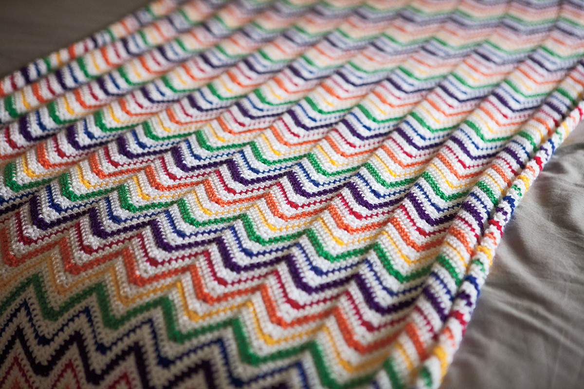 Rainbow Crochet Blankie Pattern Kits