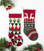 Triangle and Reindeer Stocking Pattern Kit