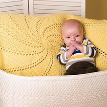 Whirl Crochet Afghan
