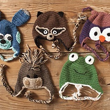 Domestic Zoo of Crochet Animals Hats