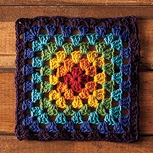 Granny's Rainbow Dishcloth