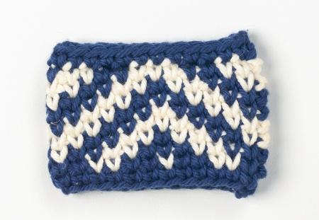 Tapestry in center single crochet