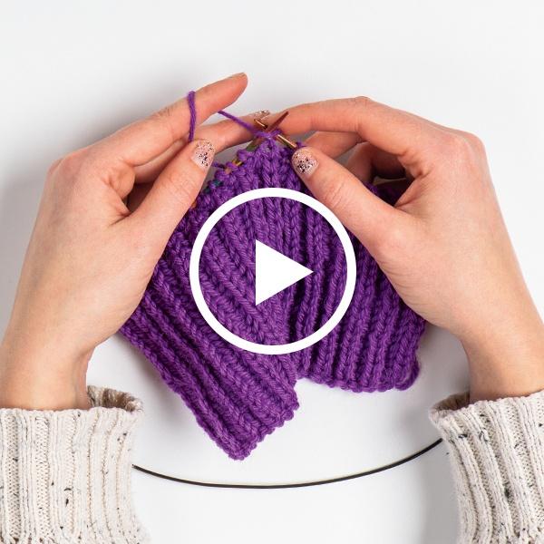 Brioche Single Color Knit Flat