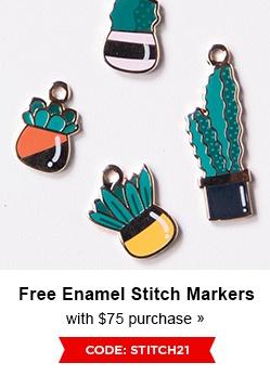 Free Enamel Stitch Marker
