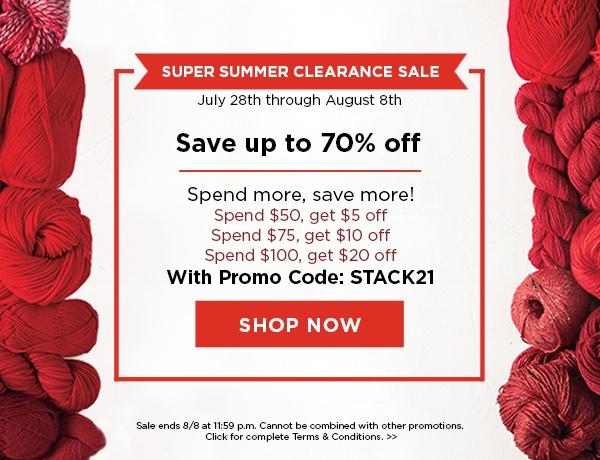 Super Summer Clearance Sale