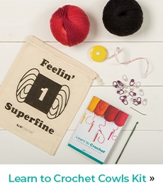 Learn To Crochet Cowls Kit