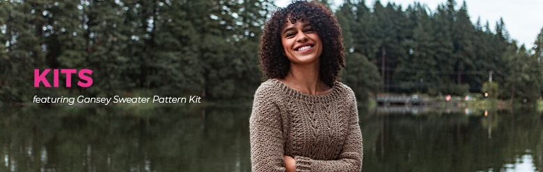 Gansey Sweater Pattern Kit