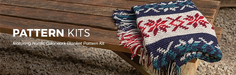 Nordic Colorwork Blanket Pattern Kit