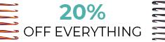 Twenty Percent Off Sitewide