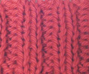 Knit Two Purl Two Pattern : Ribbing