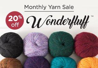 Monthly Yarn Sale - Save 20% on Wonderfluff Yarn