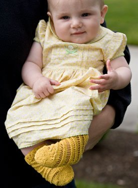 Baby Tube Socks - Free Knitting Pattern for Baby Tube Socks with