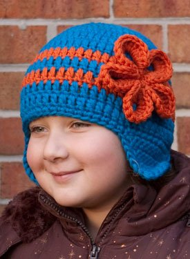 Free Crochet Pattern - Monkey Ear Flap Hat from the Baby hats and