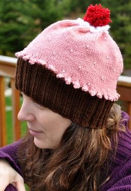 Adult Beaded Cupcake Hat