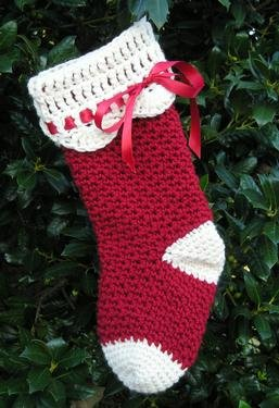 Free Crochet Pattern: Jiffy® Christmas Tree Christmas Stocking