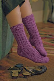 Free Knit Pattern For Lace Socks - Free Knitting Patterns from