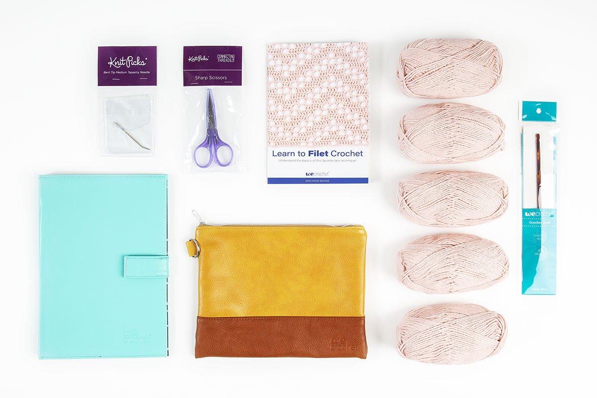 Learn to Filet Crochet: Flamingo Market Bag Kit