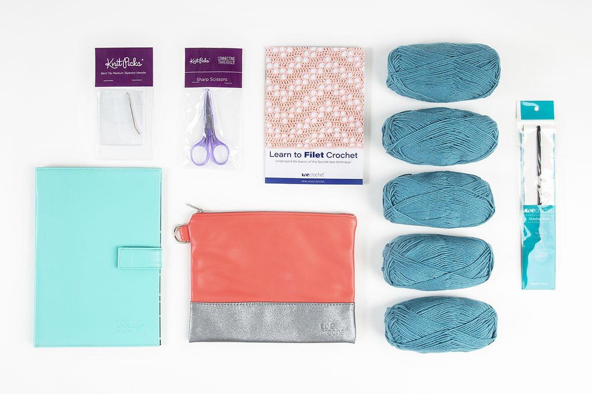Learn to Filet Crochet: Surf Market Bag Kit