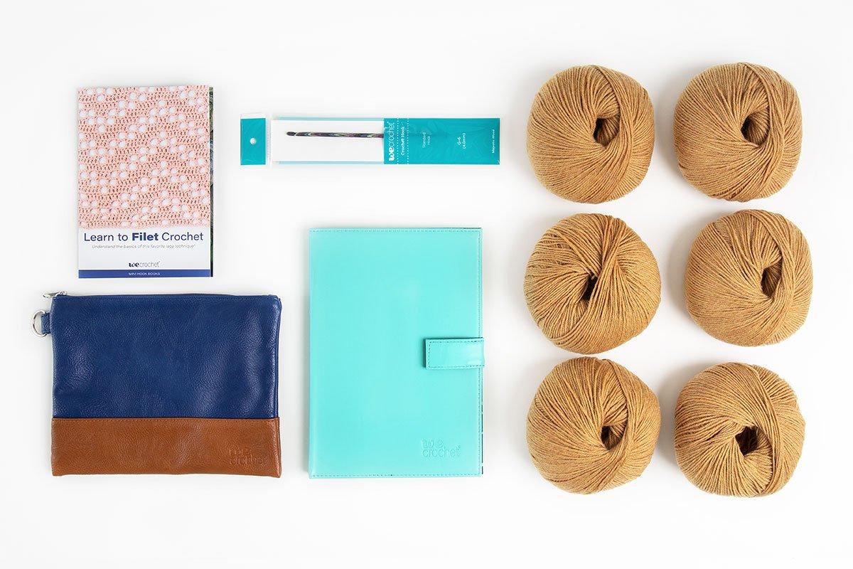 Learn to Filet Crochet: Crescendo Filet Wrap Kit