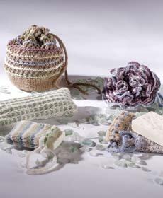 Free Knitting Pattern - Octopus Bath Mitt from the Animals Free