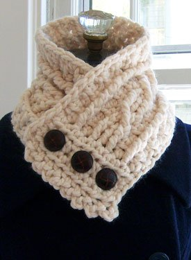 Herringbone Neck Warmer Free Knitting Pattern