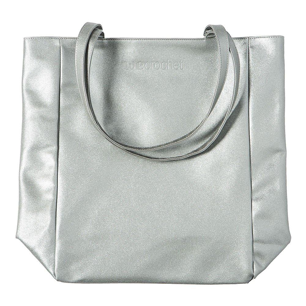WeCrochet Tote Bag - Silver Sparkle