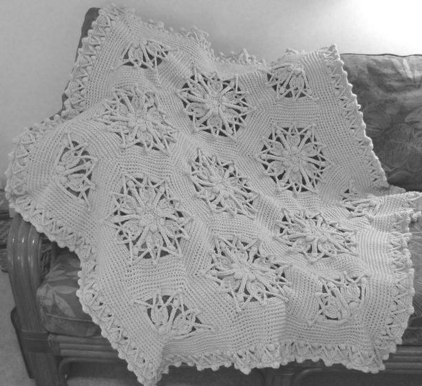 Hex Medallion Crochet Afghan | KnitPicks com