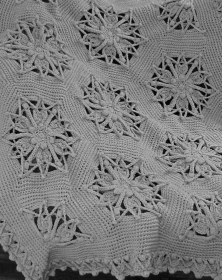 Hex Medallion Crochet Afghan   KnitPicks com
