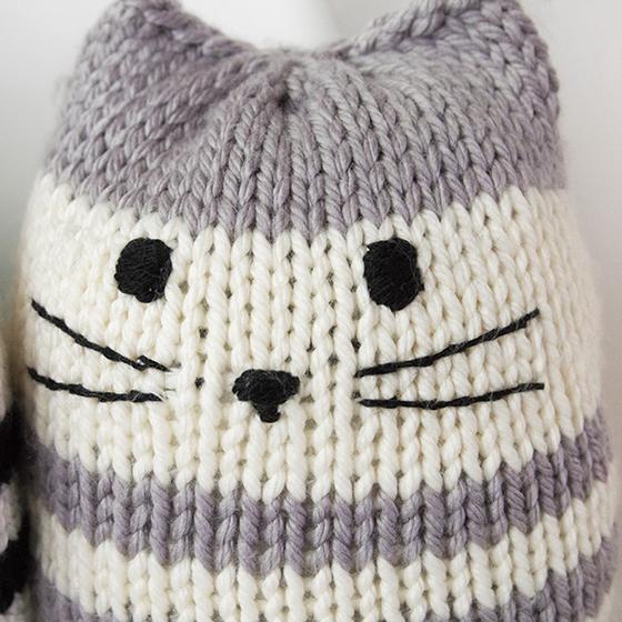Classic Cats Knit Picks Mighty Mini Kitty Pouf Knitting Pattern Knit