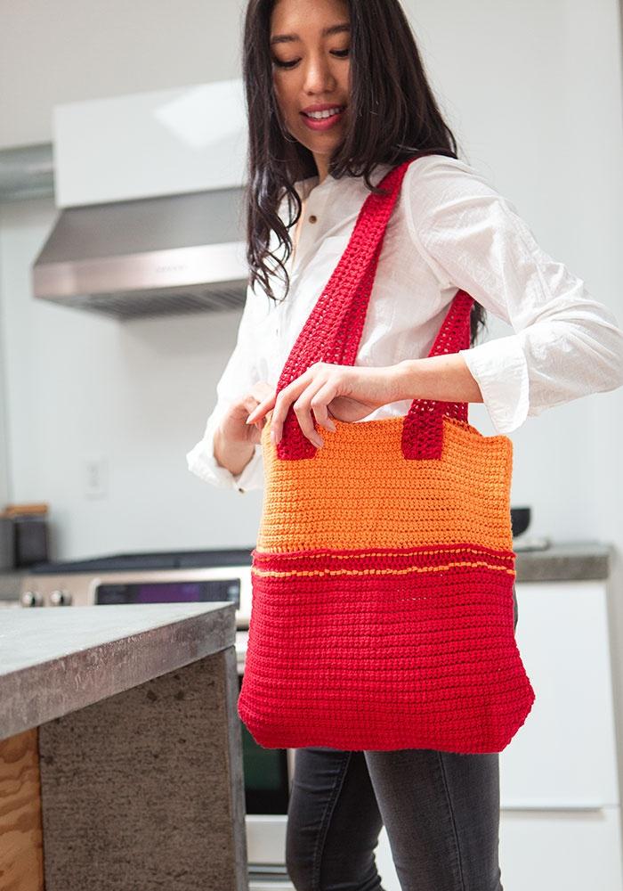 Fiesta Tote Bag Free Crochet Pattern