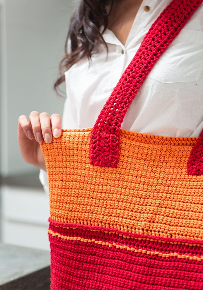 Fiesta Tote Bag Free Pattern to Crochet