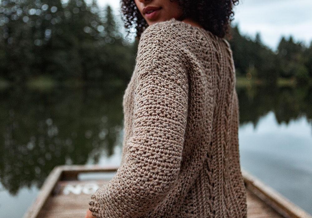 Free Download Gansey Sweater Crochet Pattern