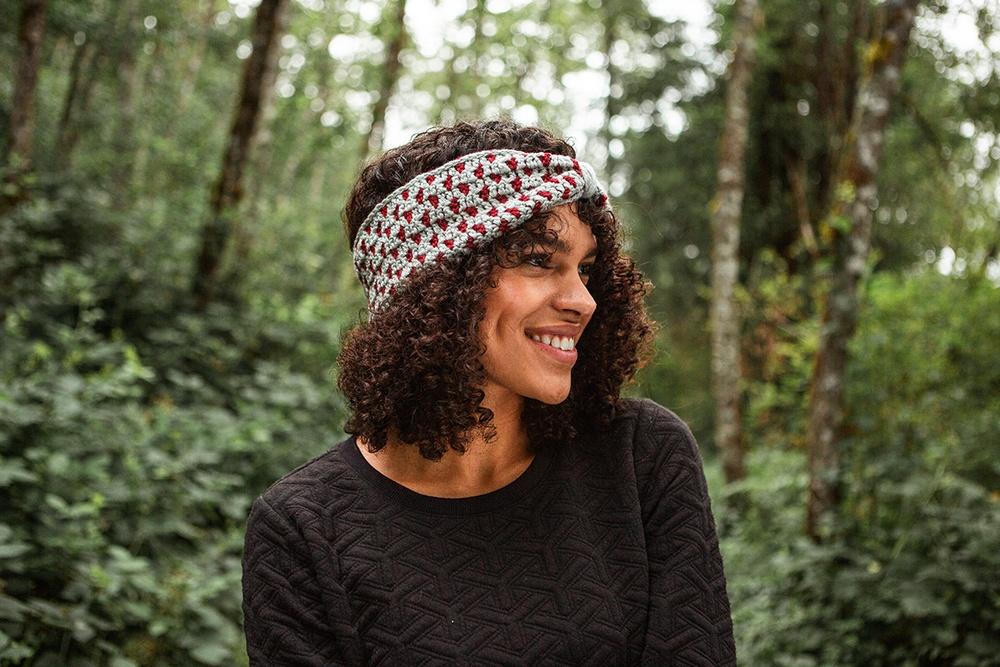 Polka Dot Ear Warmer Free Crochet Download