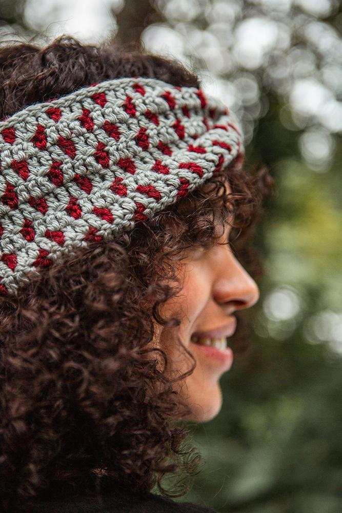 Polka Dot Ear Warmer Free pattern to Crochet