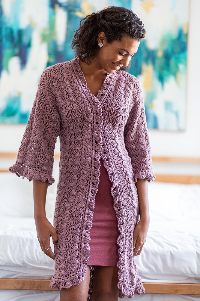 Art Deco Dressing Gown Free Crochet Pattern